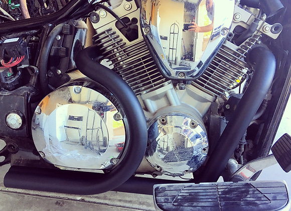 Black SAVAGE Dual Exhaust