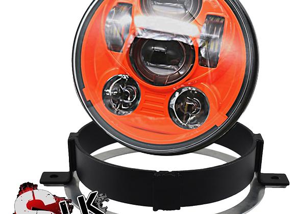 Honda VTX ORANGE LED Daymaker Headlight Kit with Bracket