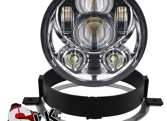 Honda VTX LED Chrome Daymaker Headlight Kit with Bracket