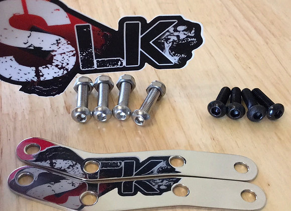 Fury Polished Stainless Front Fender Relocation Bracket