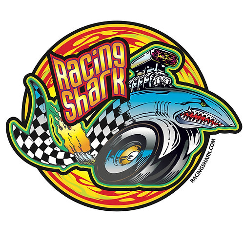 RACING SHARK MOTORSPORTS OFFICIAL DECAL - LARGE