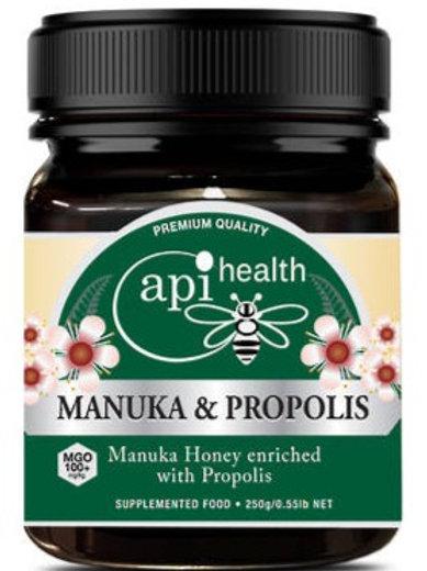 Manuka Honey (MGO 100+) & Propolis 250g