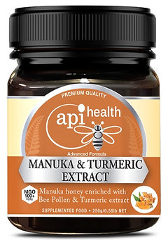 Manuka Honey (MGO 100+) & Turmeric Extract 250g