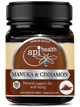 Manuka Honey (MGO 100+) & Cinnamon  250g