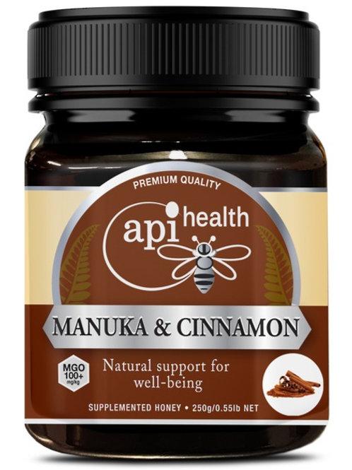 Manuka Honey (MGO 100+) & Cinnamon  250g