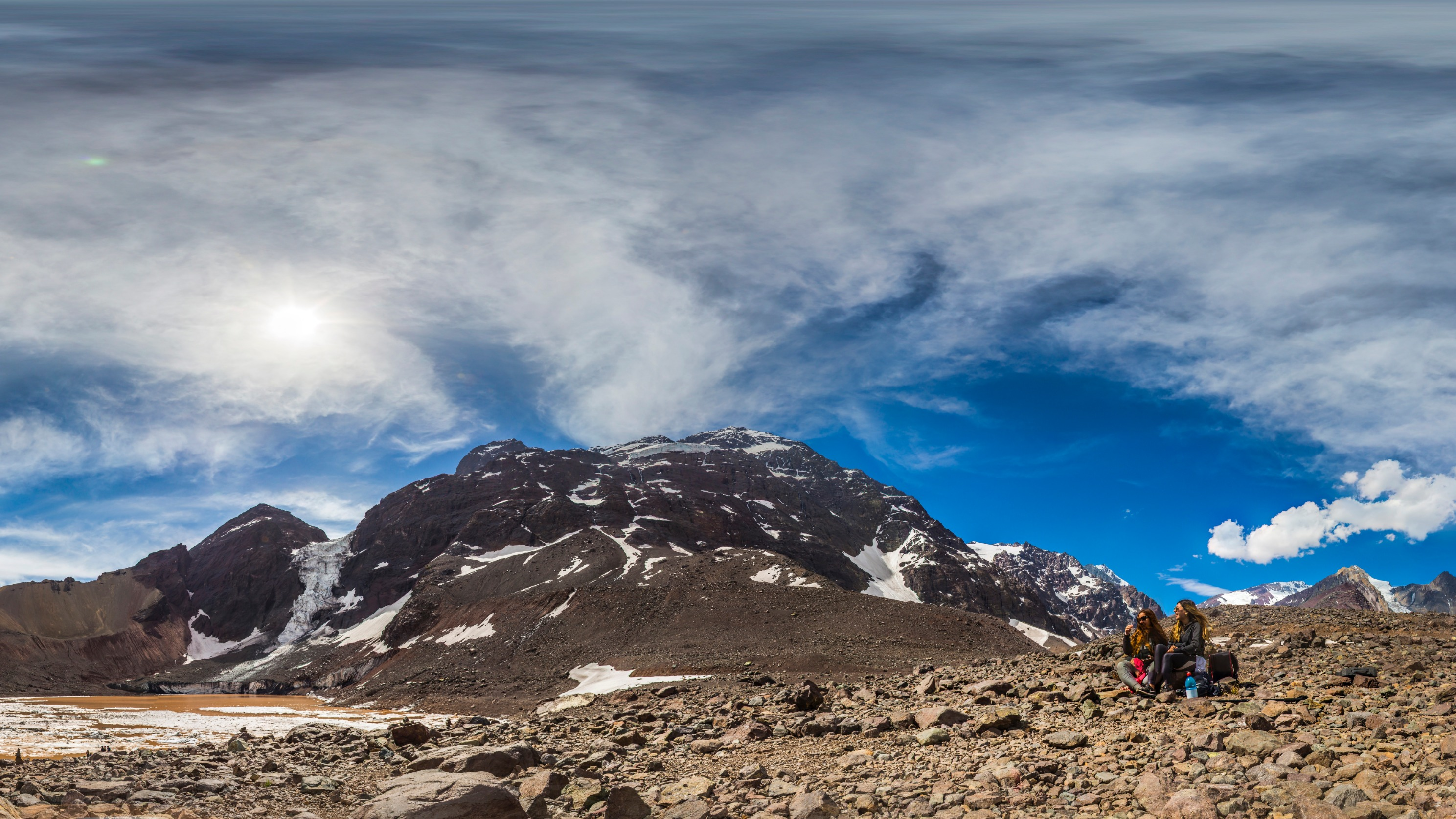 A los pies del Glaciar El Morado