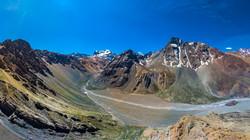 Valle Las Arenas Camino al Glaciar El Morado