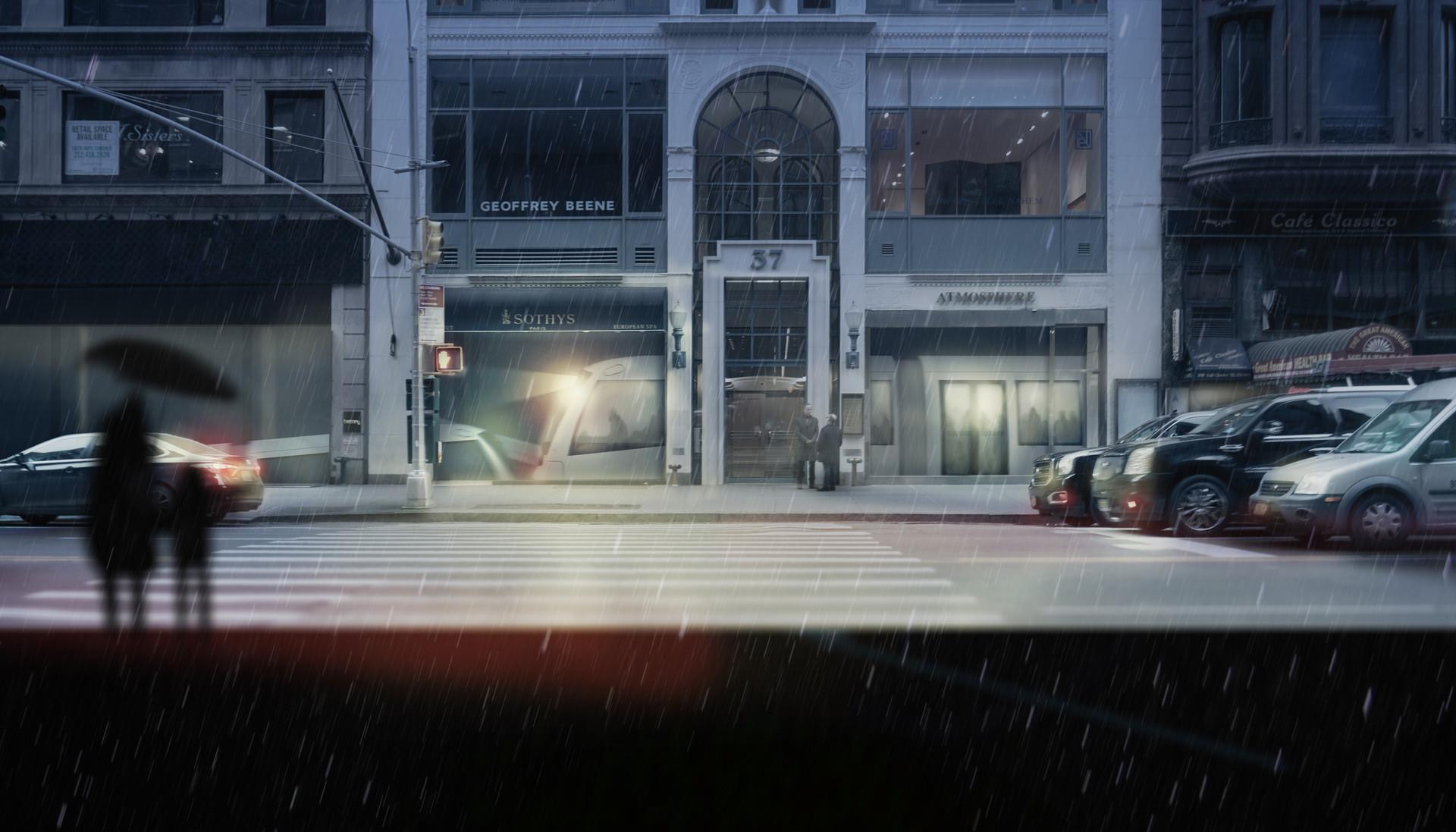 Painting: 5Av Under Rain
