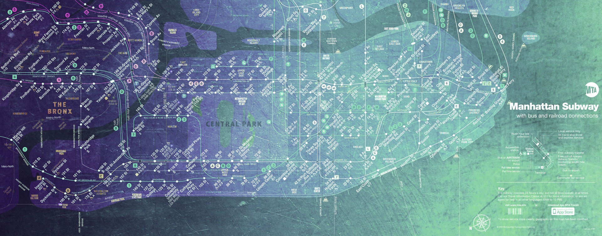 Map: Manhattan Subway 2057