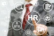 Human resource business concept. HR word