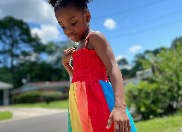 Rainbow Scrunch Dress