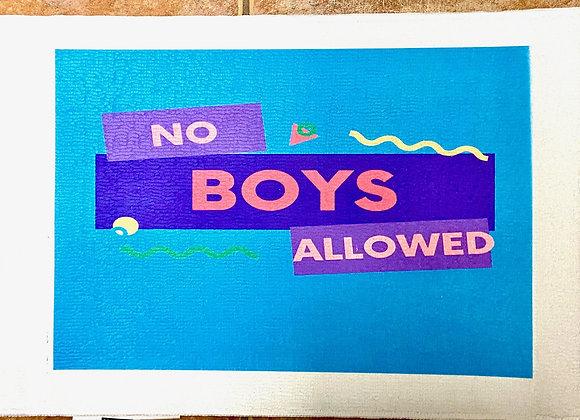 No Boys Allowed Rug