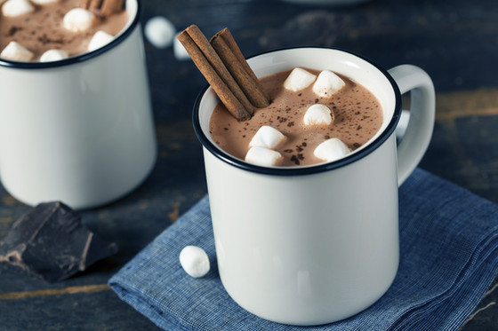 Hot cocoa and a good book!