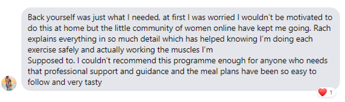 Back Yourself Testimonial