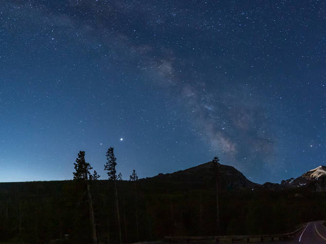 Milky-Way over Rocky Mountain National Park