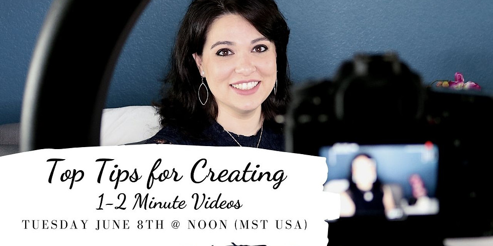 Top Tips for Creating 1-2 Minute Videos