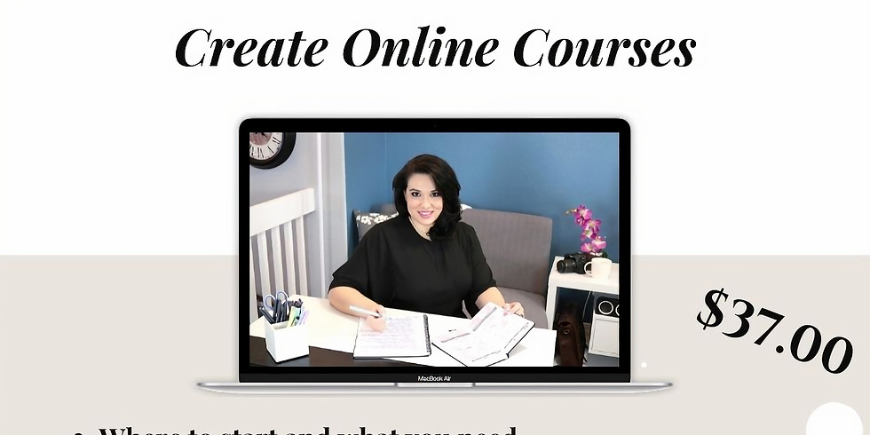 Online Course Creation @ 3pm (MST)