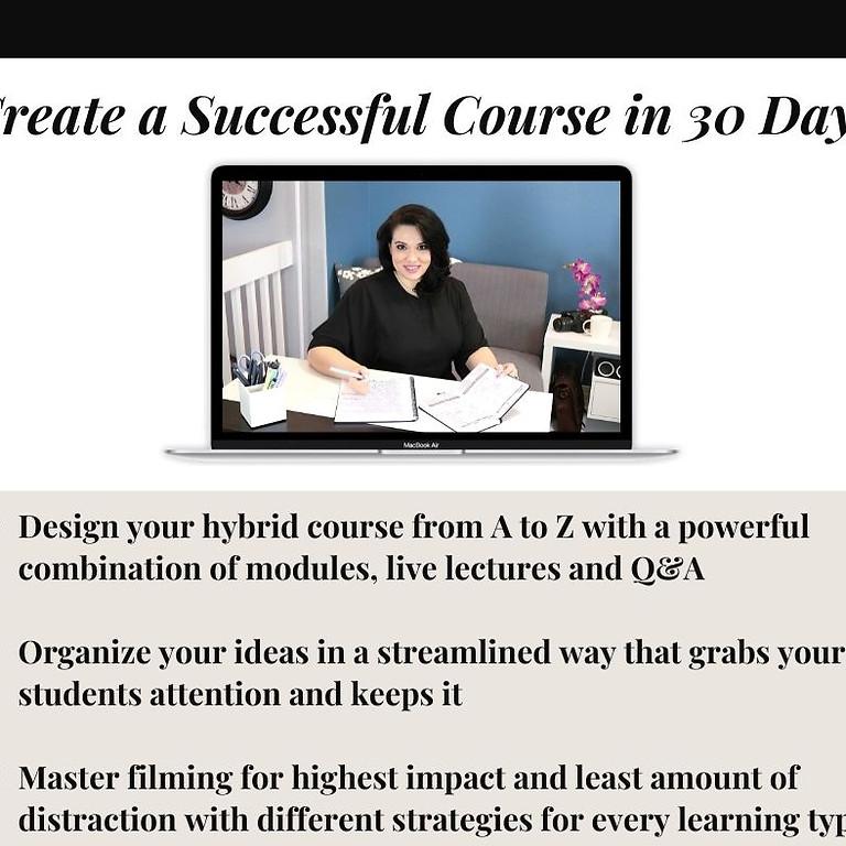 Create a Successful Course in 30 Days