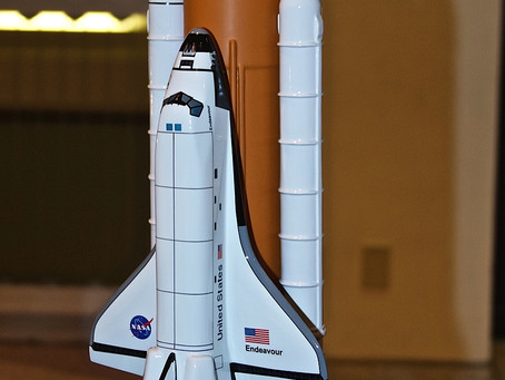 A PEEK AT SPACE SHUTTLE ENDEAVOUR'S FUTURE HOME