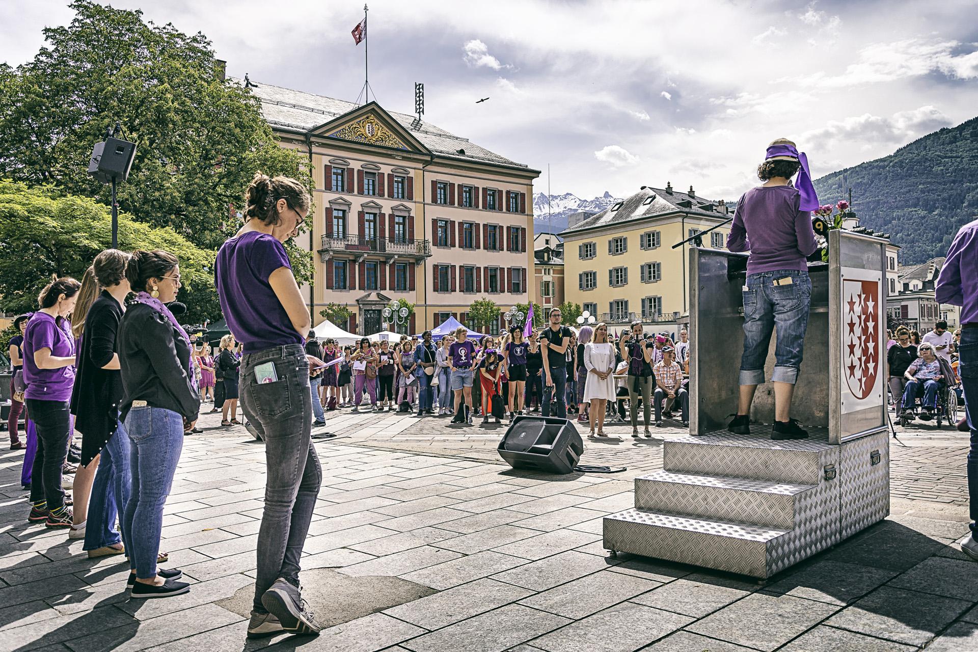 Grève des femmes, Sion 2019