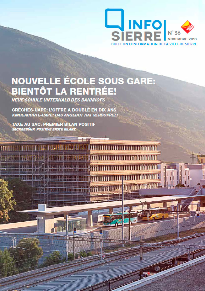 couverture, Info Sierre 2018