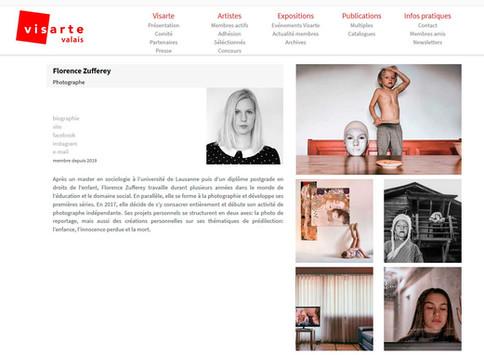 Adhésion à Visarte Suisse et Visarte VS