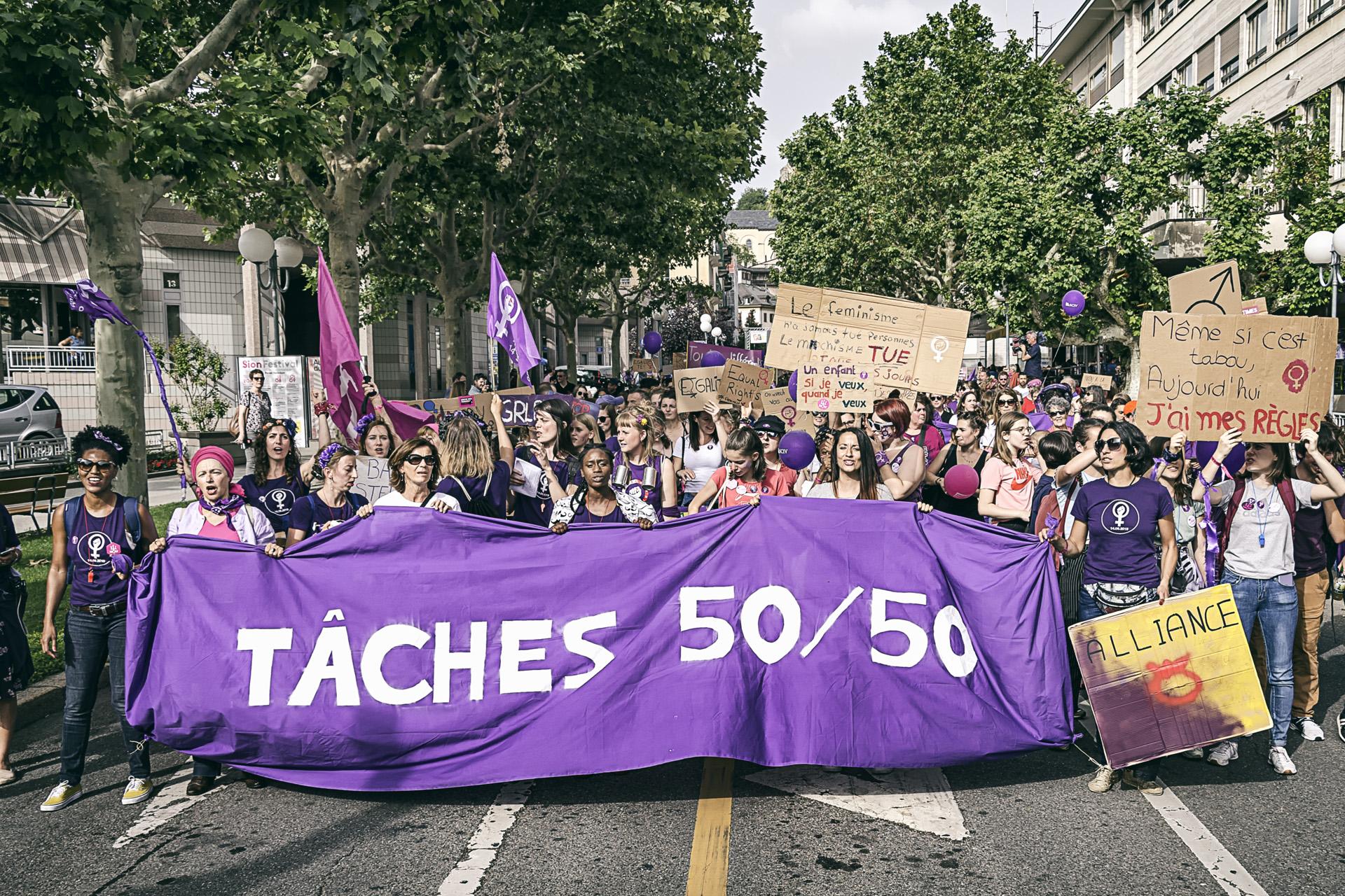 Grève des femmes, Sion 2019ufferey_-_Reportage_Grève_des