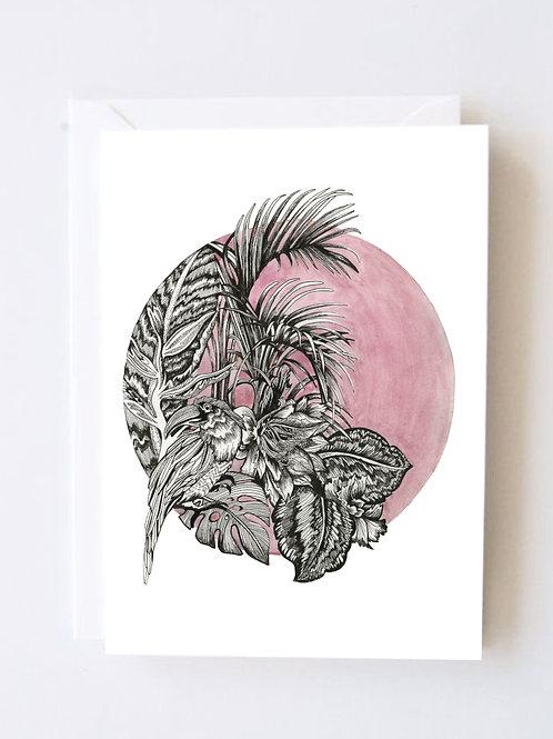 Pink tropics print