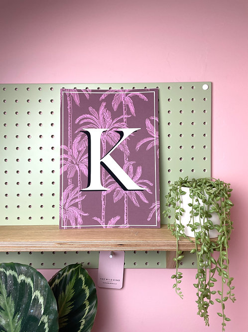 Tropical Letter 'K' Art Print