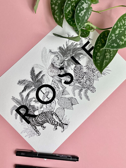 Oasis X TWK Jungle Name Print