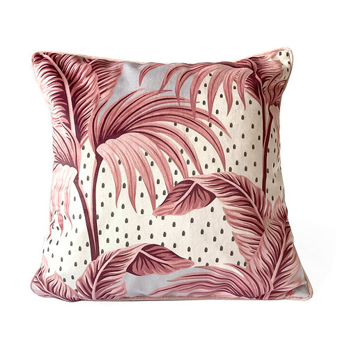 Luxury Pastel Palm Polka Cushion