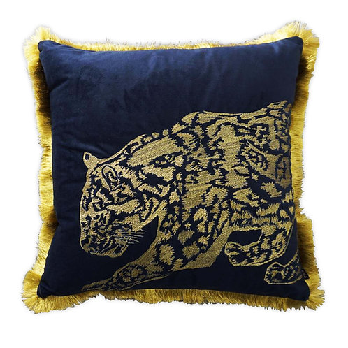 Premium Embroidered Jaguar with luxe fringe