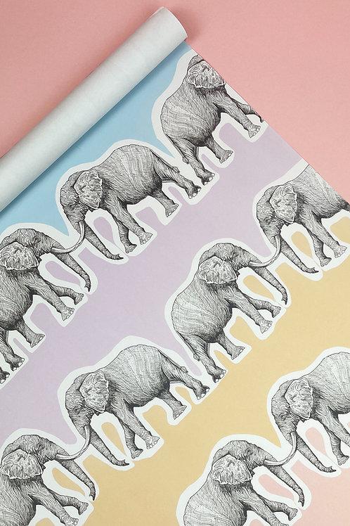 Pastel Rainbow Elephant