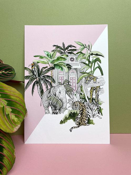 A4 Indian Jungle Print