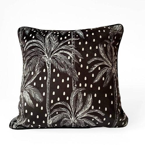 Luxury Polka Palm Velvet Cushion