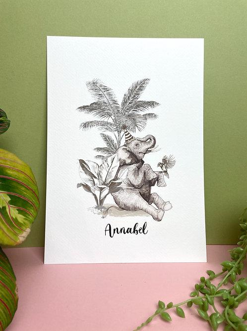 A4 Bespoke 'Annabel' Print