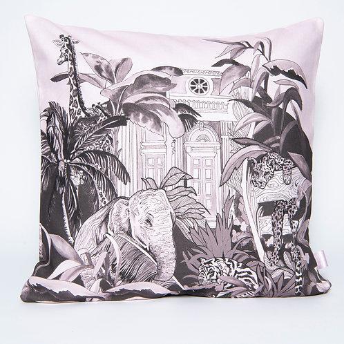 Large Pink 'Indian Jungle' Cushion