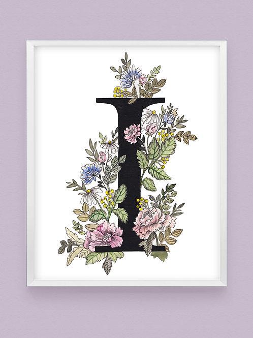 Pastel Botanical 'I'