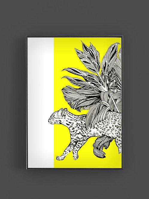 Pop Neon Jaguar Print
