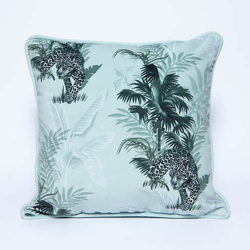 Green Tropics Velvet Cushion