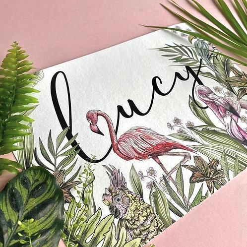 Personalised Tropical Print