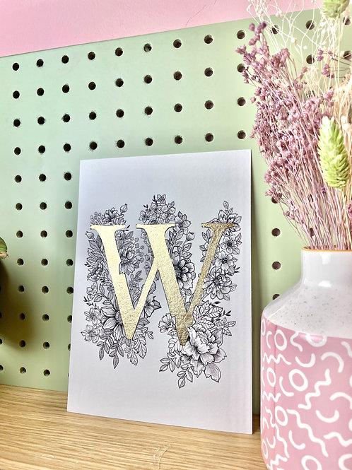 Gold Leaf 'W'