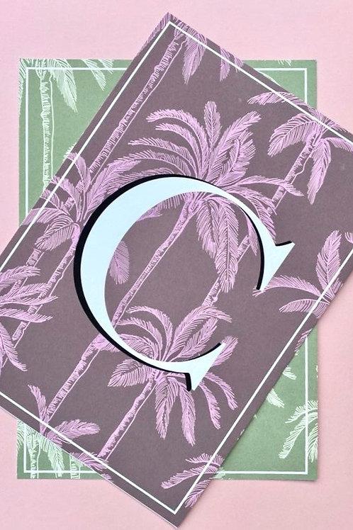 Palm Letter Print