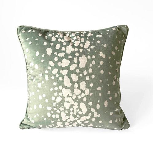 Luxury Green Dalmatian Velvet Cushion