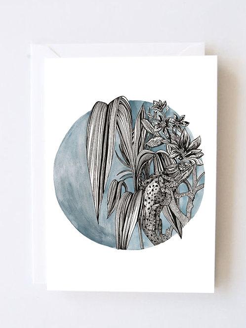 Blue tropics print