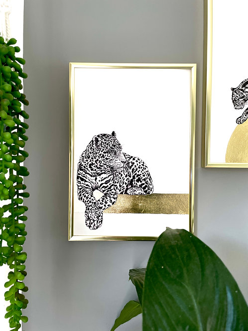 Wild Cats - Gold leaf edition - Leopard