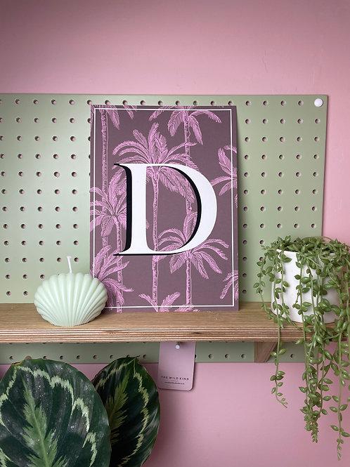 Tropical Letter 'D'