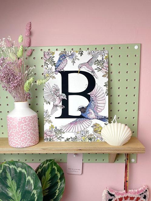 Bird Letter B