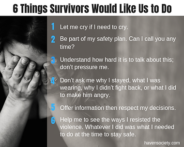 6 Things Survivors Would Like Us to Do_6