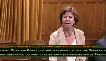 On September 20, 2018, Sheila Malcolmson, MP for Nanaimo-Ladysmith, spoke to Parliament about Haven's 40th Anniversary and domestic violence. Thank you, Sheila!